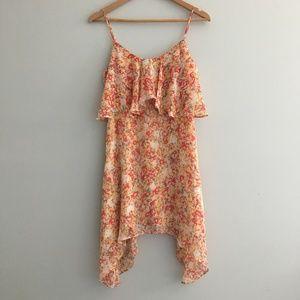 BCBGeneration Floral Asymmetrical Dress